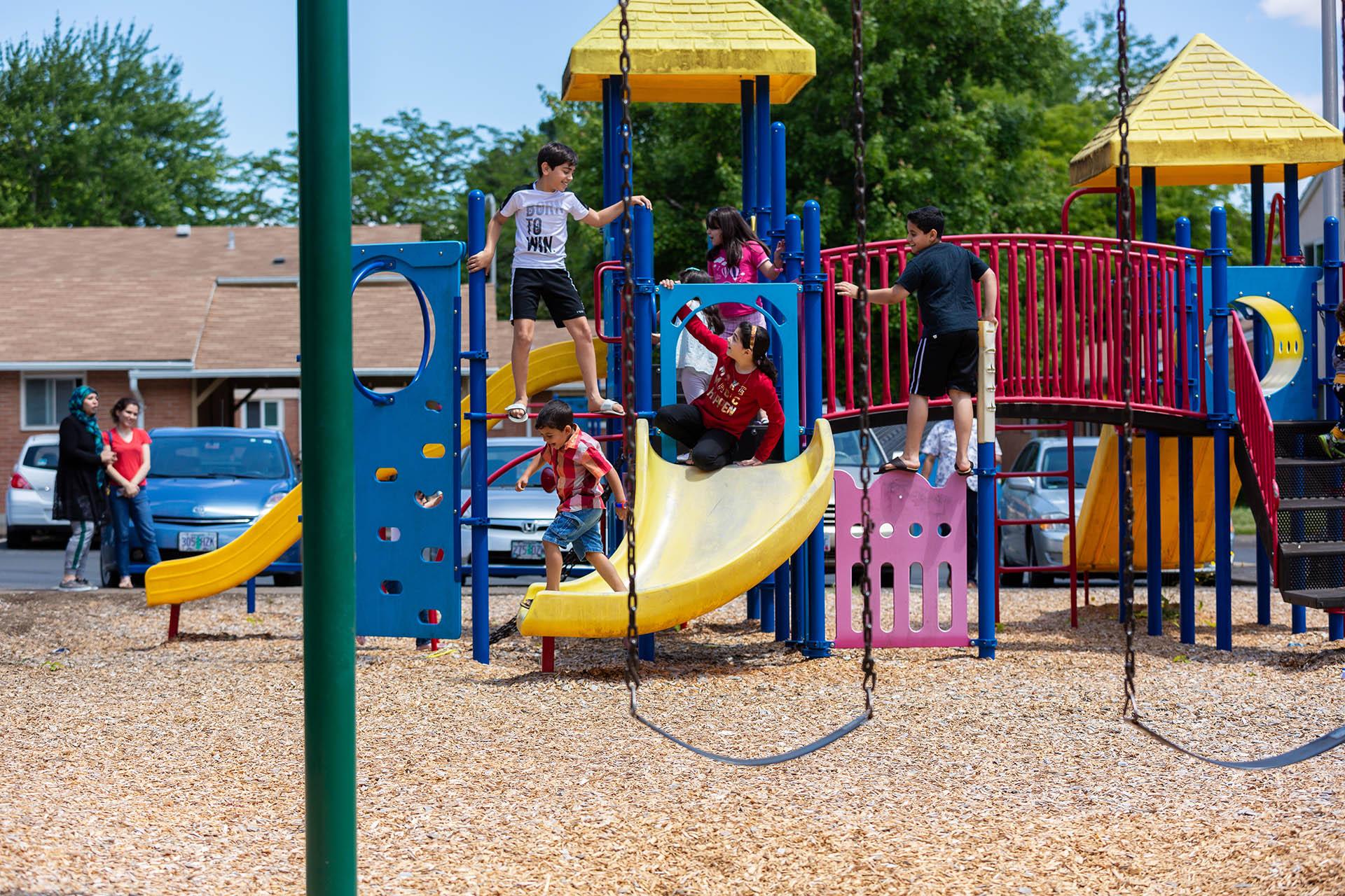 orchard court family housing playground oregon state university