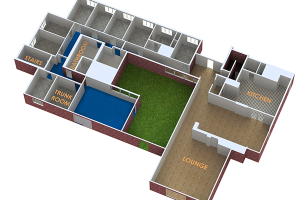 Dixon Lodge floor 1 plan