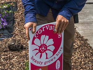 Corvallis Civic Beautification award sign