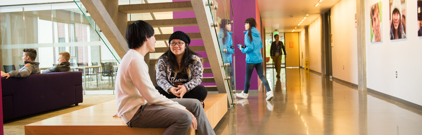 Students in International Living-Learning Center