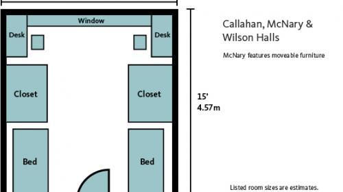 Callahan Hall Room Plan