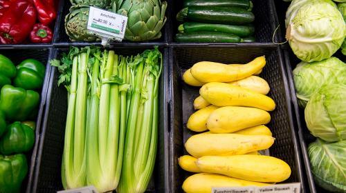 vegetables at Cascadia Market