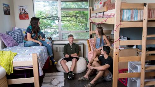 Students sitting in Finley hall room