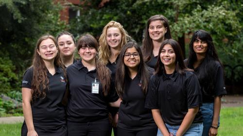 Halsell Hall student staff