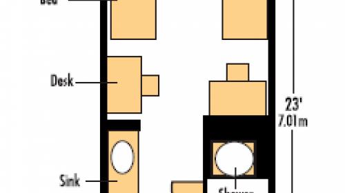 International Living-Learning Center Room Plan - Double