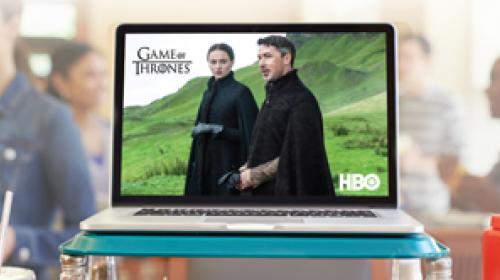 Television streaming on laptop computer