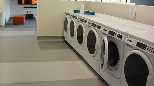 Tebeau Hall laundry room
