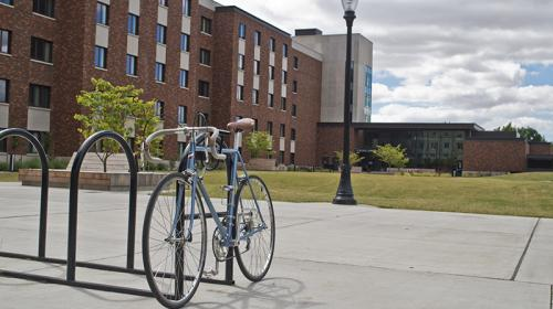 Bicycle outside Tebeau Hall