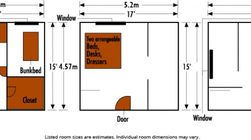 Sackett Hall Room Plans