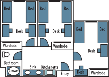 See A Sample Floor Plan For A Tebeau Suite.